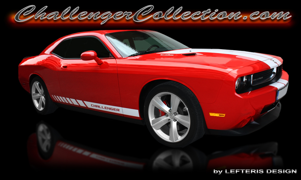 Lower Strobe Side Stripe with Challenger New style logo