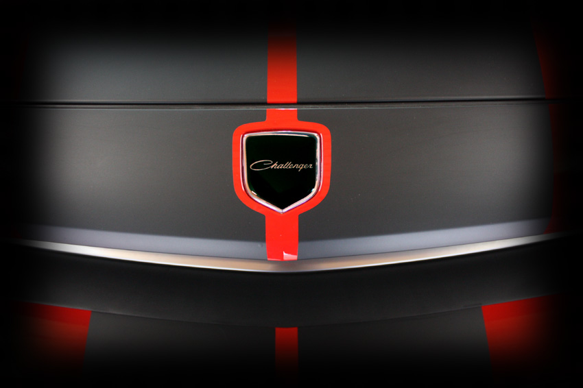 Dodge Challenger Steering Wheel and Nose 3D Custom Badges